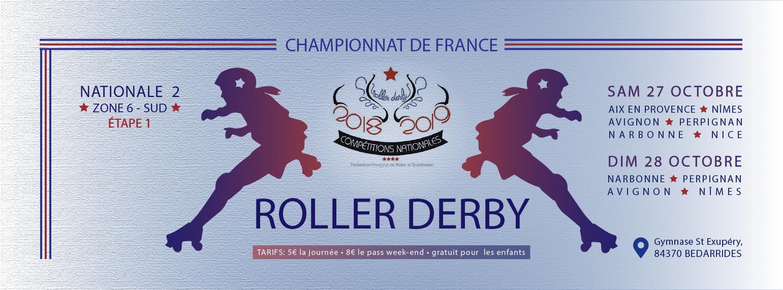 bannière championnat de france roller derby 2018 2019